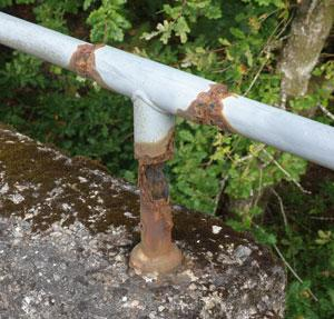 Guard rail without Hot Dip Galvanising